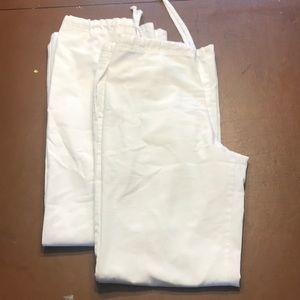 Other - 2 pair, white life uniform scrub pants, M-TALL